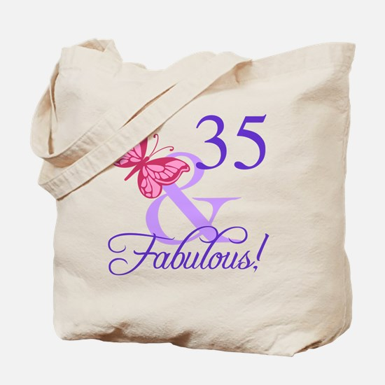 Fabulous 35th Birthday Tote Bag
