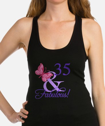 Fabulous 35th Birthday Racerback Tank Top