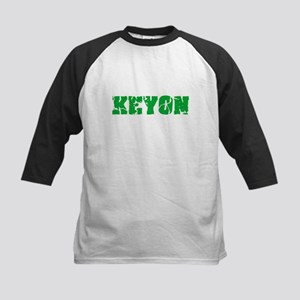 Keyon Name Weathered Green Design Baseball Jersey