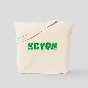 Keyon Name Weathered Green Design Tote Bag