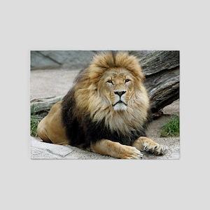 Lion20150805 5'x7'Area Rug