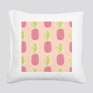 Pineapple Pattern Square Canvas Pillow