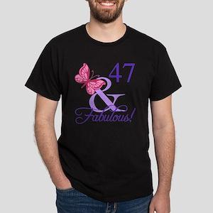 Fabulous 47th Birthday Dark T-Shirt
