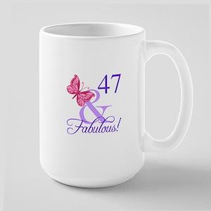 Fabulous 47th Birthday Large Mug