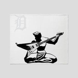 Detroit Rock City Throw Blanket