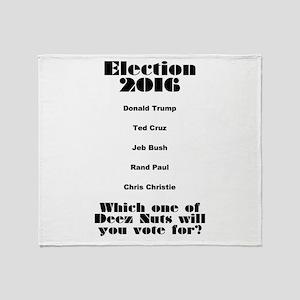 Election 2016 Throw Blanket