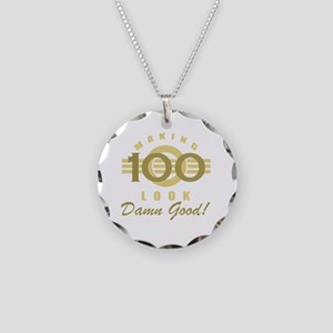 Making 100 Look Good Necklace Circle Charm