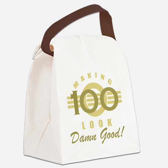 Making 100 Look Good Canvas Lunch Bag