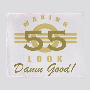 Making 55 Look Good Throw Blanket
