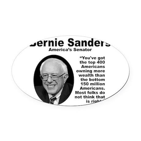 Sanders: 400 Oval Car Magnet