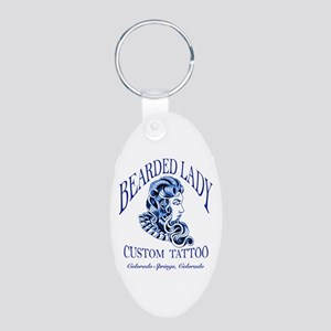 Bearded Lady Logo Keychains