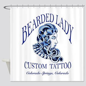 Bearded Lady Logo Shower Curtain