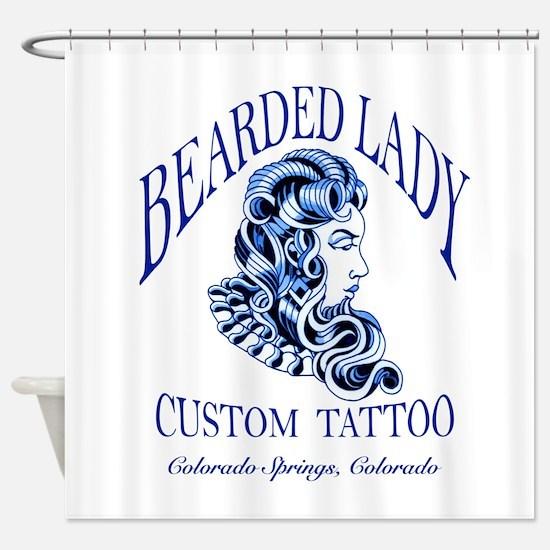 Bearded Lady Logo Shower Curtain