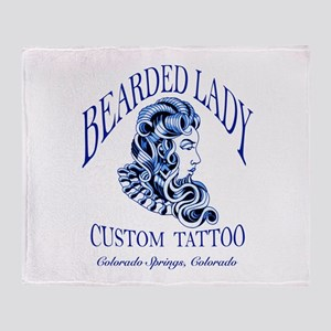 Bearded Lady Logo Throw Blanket