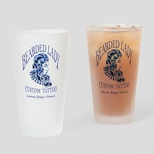 Bearded Lady Logo Drinking Glass