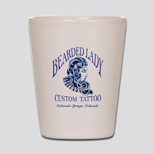 Bearded Lady Logo Shot Glass