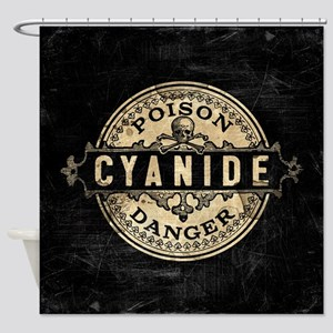 Vintage Style Cyanide Shower Curtain