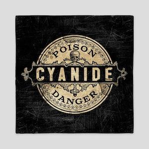 Vintage Style Cyanide Queen Duvet