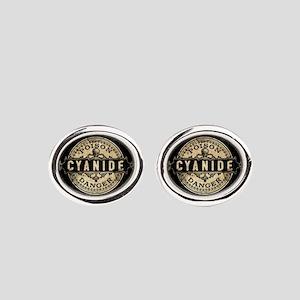 Vintage Style Cyanide Oval Cufflinks