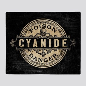 Vintage Style Cyanide Throw Blanket