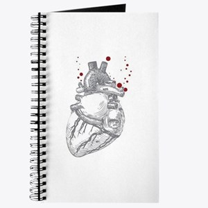 Anitomical Heart with Blood Drops Journal