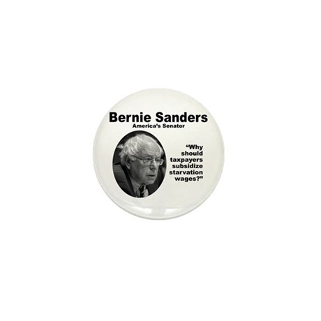 Sanders: Wages Mini Button