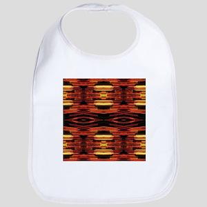 orange yellow ikat tribal pattern Bib