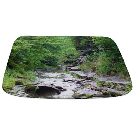 forest river scenery Bathmat