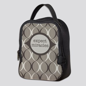 70e33d893706 Expect Miracles (Gray Design) Neoprene Lunch Bag