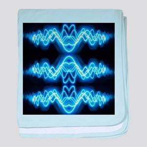 Soundwave deejay Techno music baby blanket