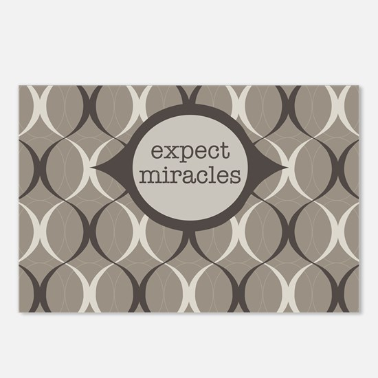Expect Miracles (gray Postcards (package Of 8)