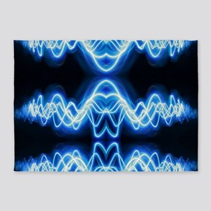 Soundwave deejay Techno music 5'x7'Area Rug