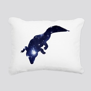 Alligator Starlight Rectangular Canvas Pillow