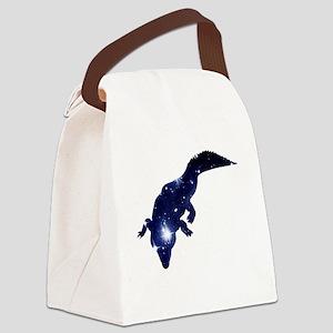 Alligator Starlight Canvas Lunch Bag