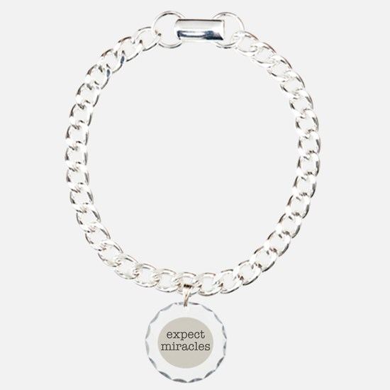 Expect Miracles (Gray Design) Bracelet