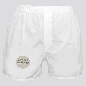Expect Miracles (Gray Design) Boxer Shorts