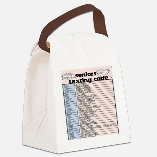 senior texting code Canvas Lunch Bag