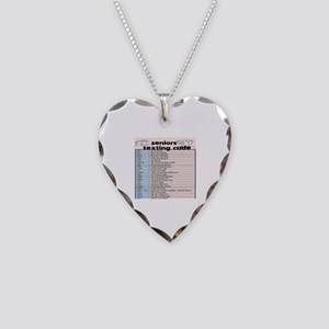 senior texting code Necklace Heart Charm