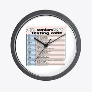 senior texting code Wall Clock