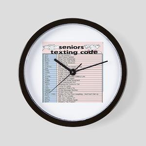 senior texting code Wall Clock