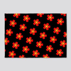 Hokkaido Red Floral Linda's Fave 5'x7'Area Rug
