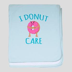I Donut Care baby blanket