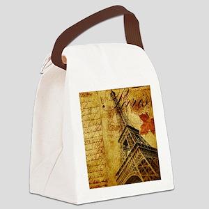 Paris VI Canvas Lunch Bag