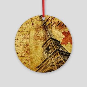 Paris VI Round Ornament