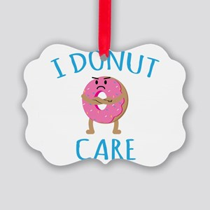 I Donut Care Picture Ornament