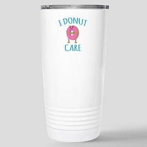 I Donut Care Stainless Steel Travel Mug