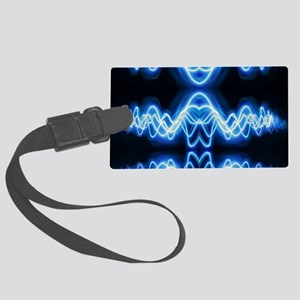 Soundwave deejay Techno music Large Luggage Tag