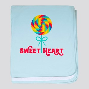 Sweetheart Rainbow Lollipop Baby Blanket