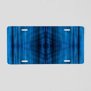 modern beach blue batik Aluminum License Plate