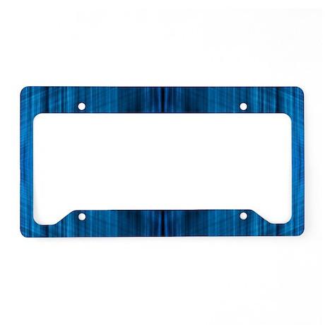 modern beach blue batik License Plate Holder